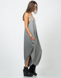 Side View of Drapey Tank Jumpsuit