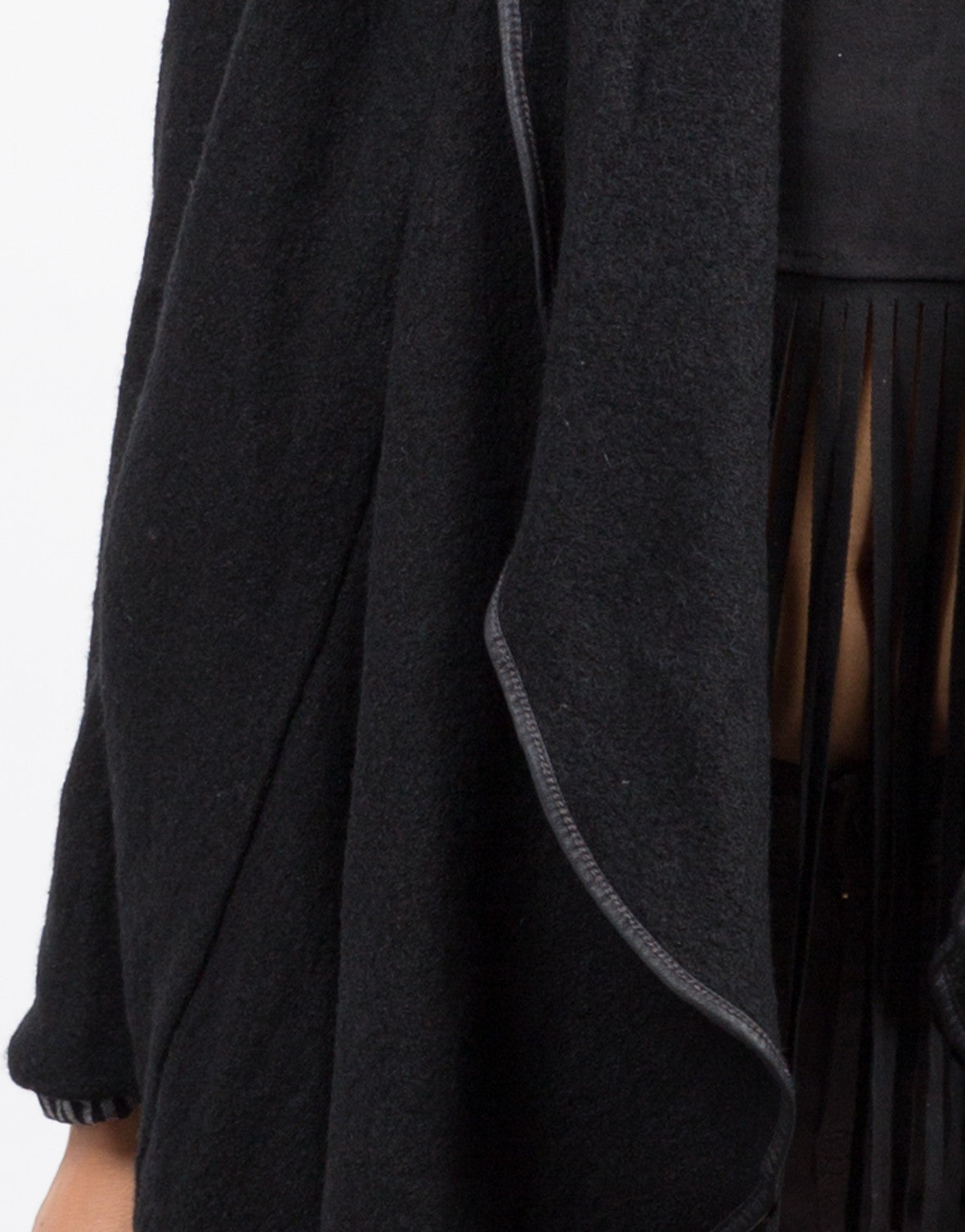 Detail of Draped Wool Jacket