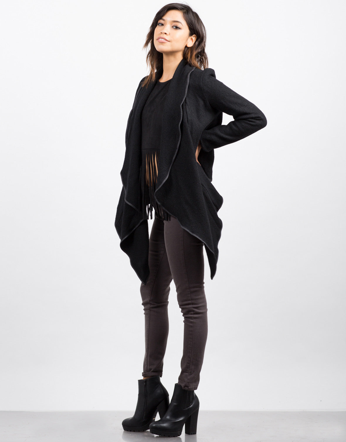 Draped Wool Jacket