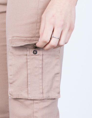 Detail of Drawstring Cargo Pants