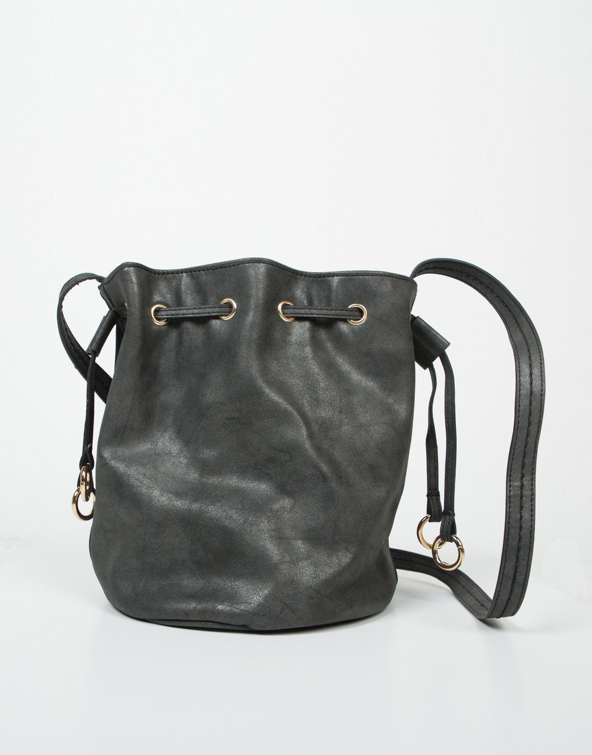 Front View of Drawstring Bucket Bag