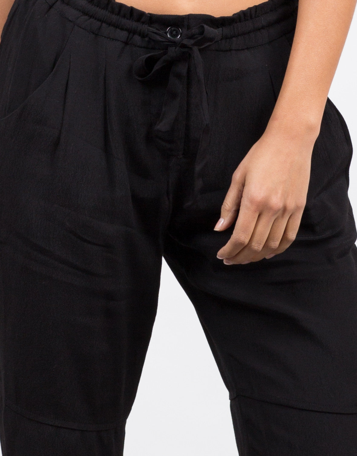 Detail of Drawstring Cuffed Pants