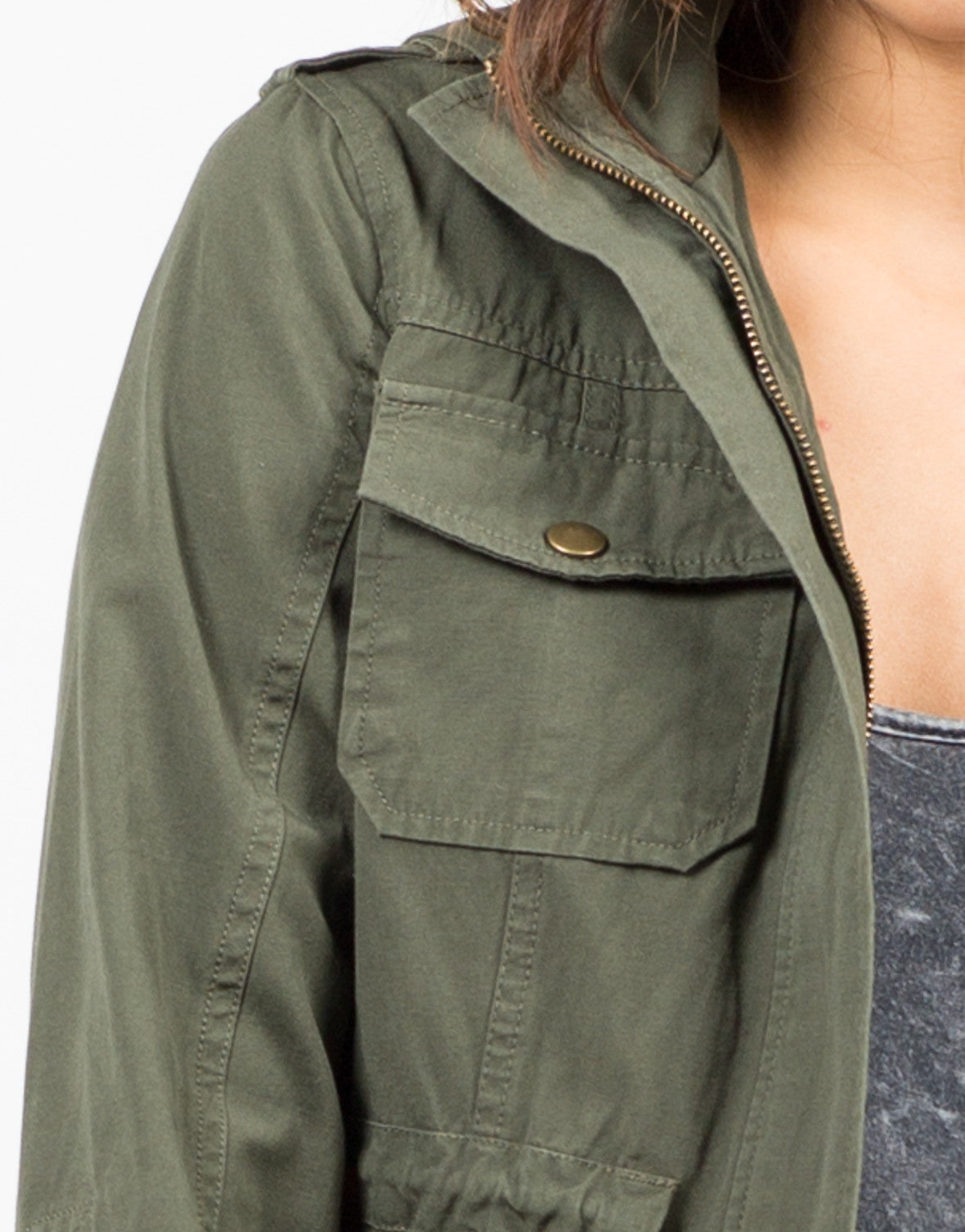 Detail of Drawstring Field Jacket
