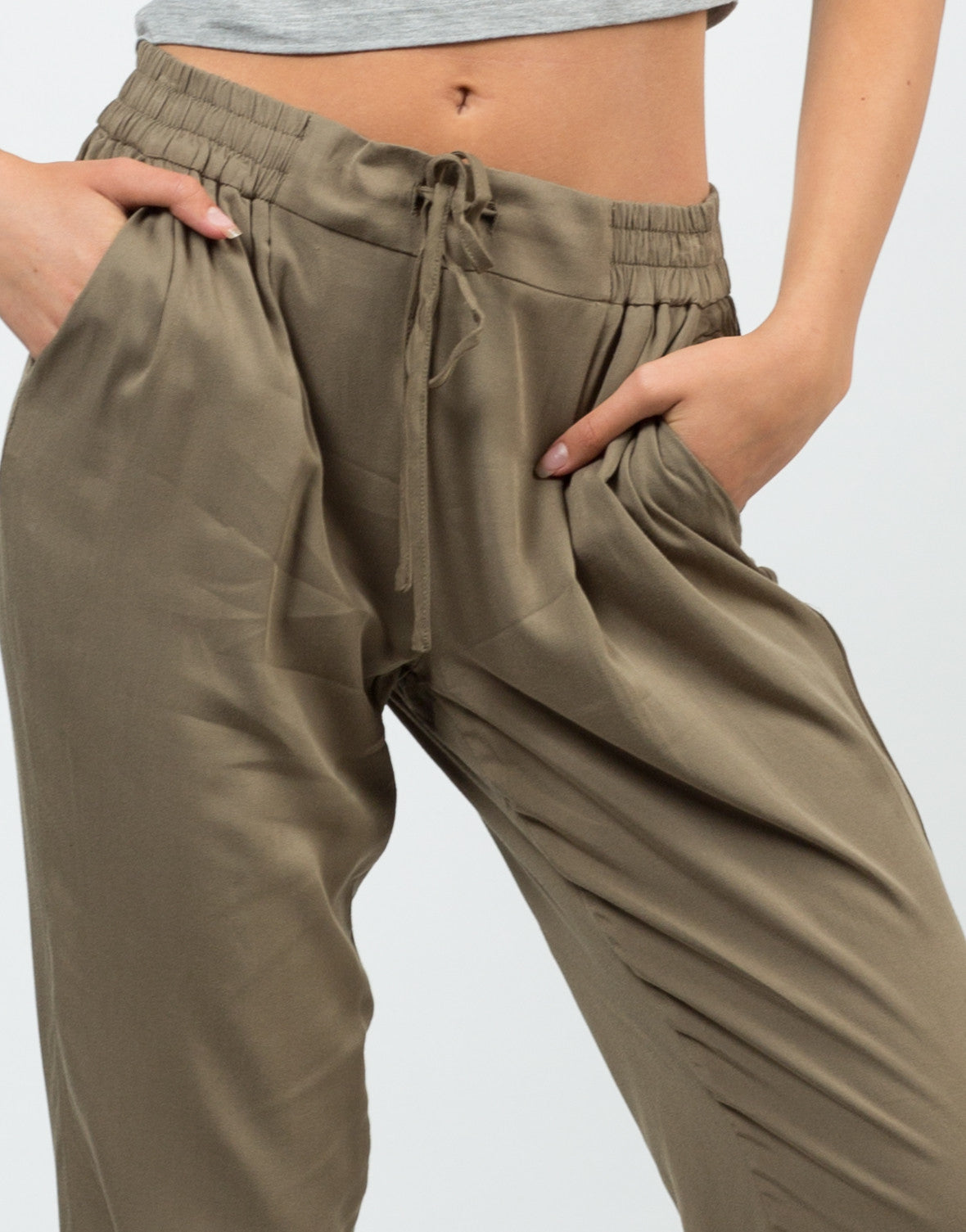 Detail of Drawstring Jogger Pants