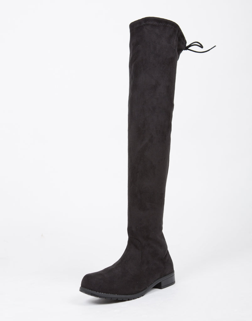 Drawstring Over-The-Knee Boots - 2020AVE