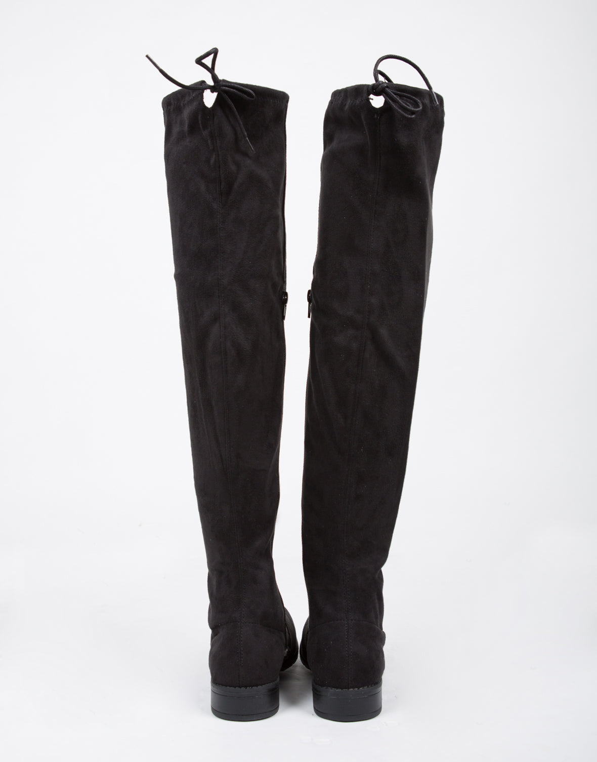 Drawstring Over-The-Knee Boots