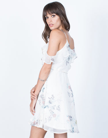 Back View of Dream Girl Floral Dress