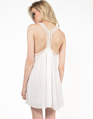 Back View of Dreamy Lace Detail Dress