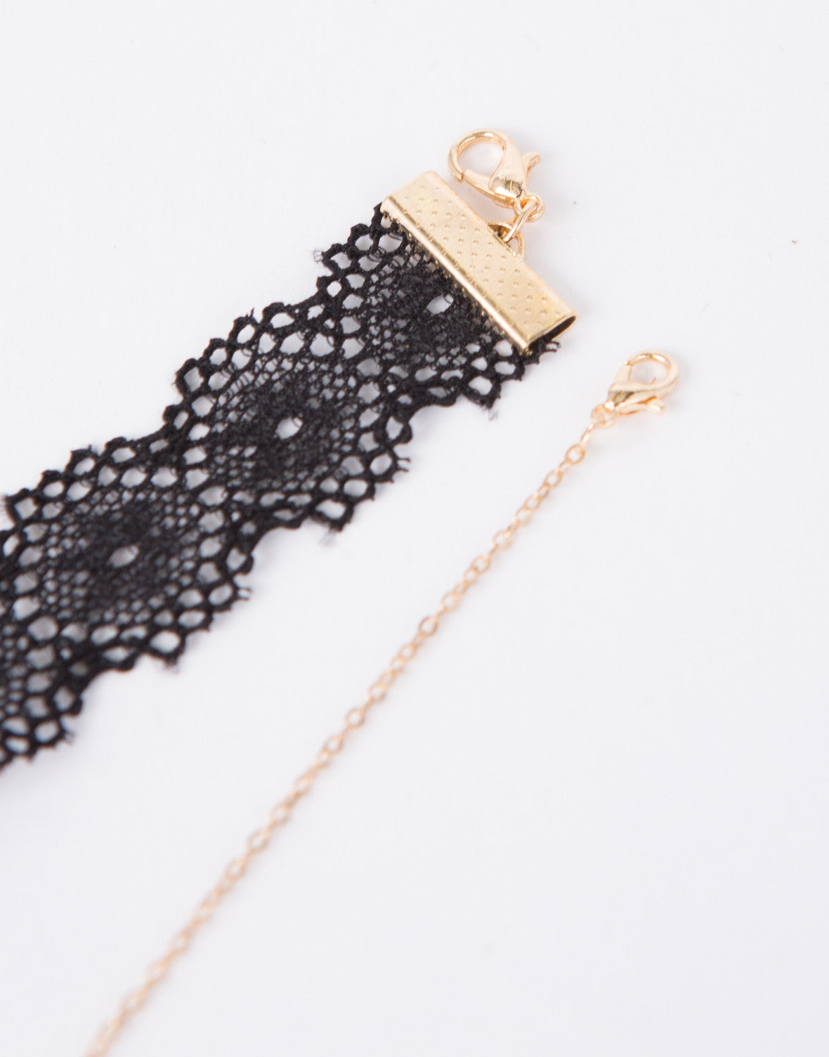 Drop Bar Lace Choker