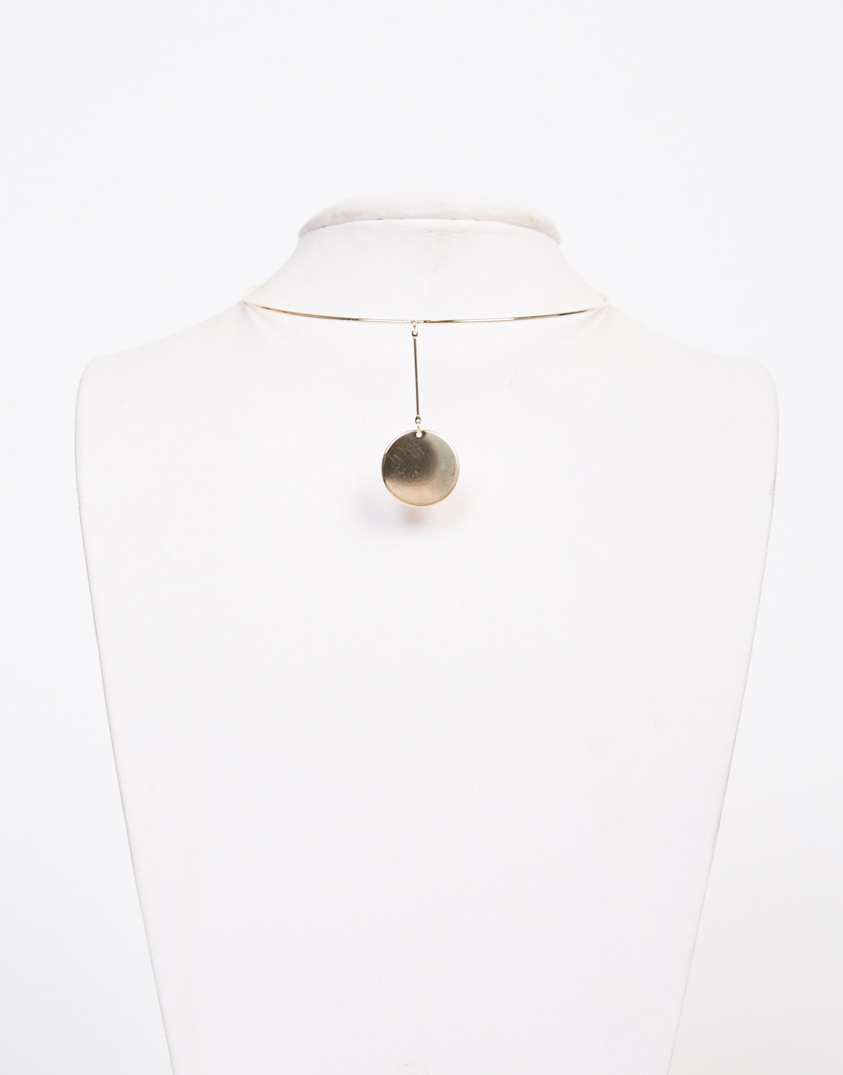 Drop Circle Collar Necklace