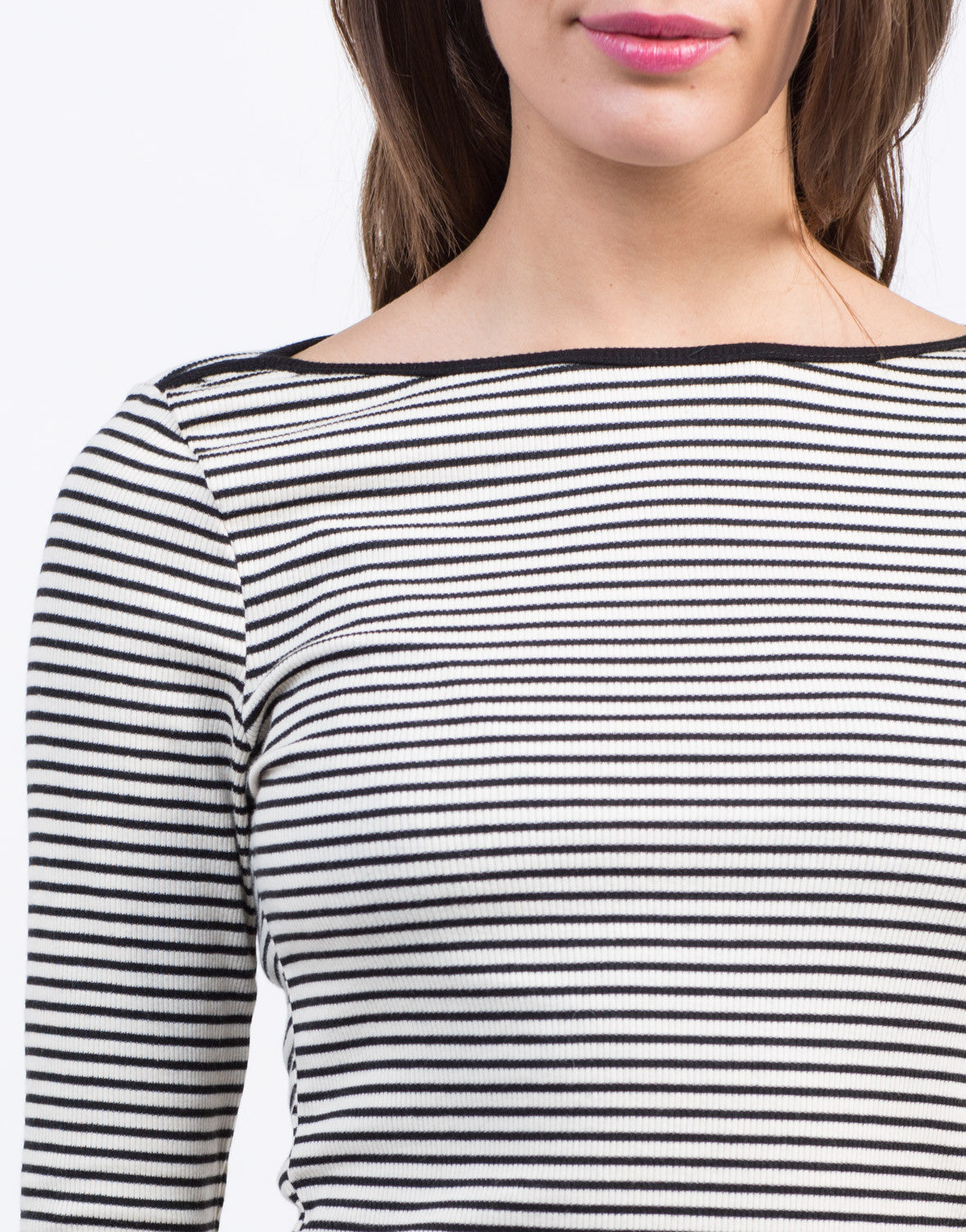 Detail of Easy 3/4 Striped Top