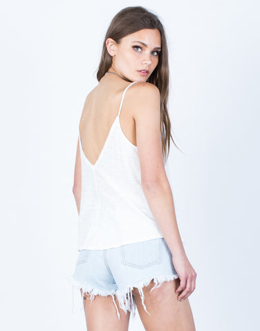 Back View of Easy Breezy Knit Tank