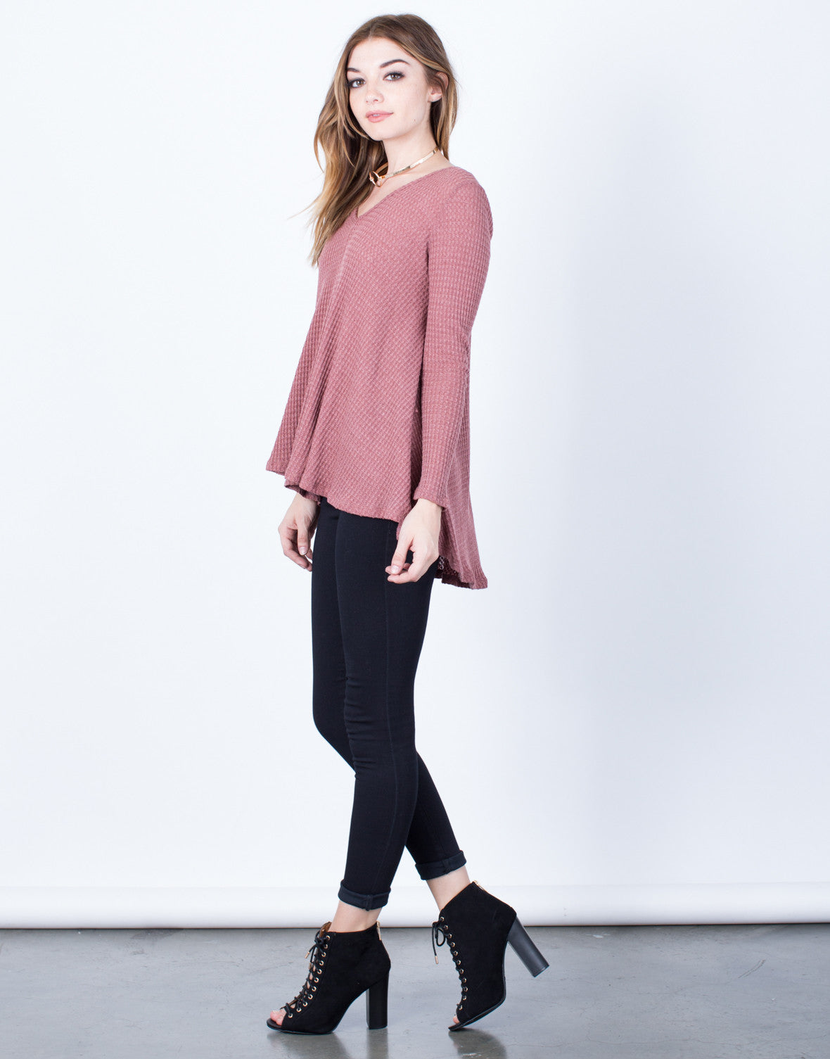 Side View of Easy Breezy Tunic Top