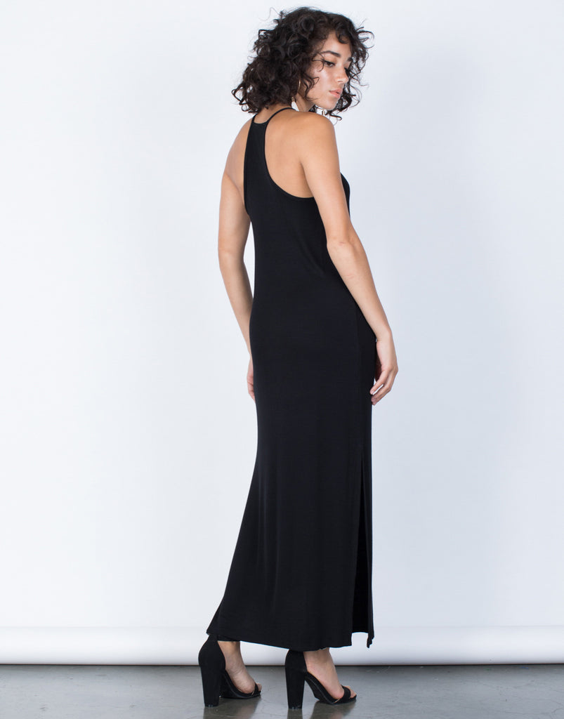 Black Easy Livin' Maxi Dress - Back View