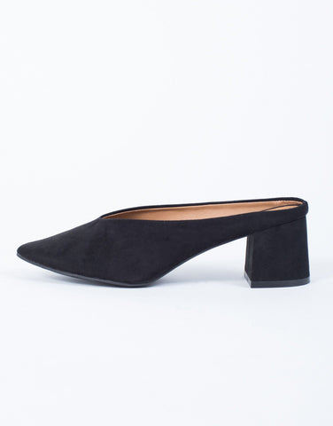 Easy Suede V-Cut Mules - 2020AVE
