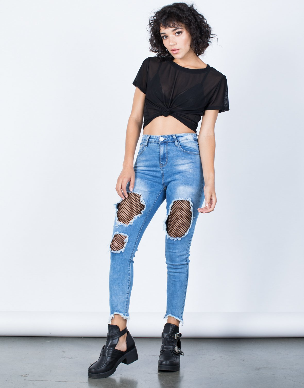 Edgy Netted Jeans - 2020AVE
