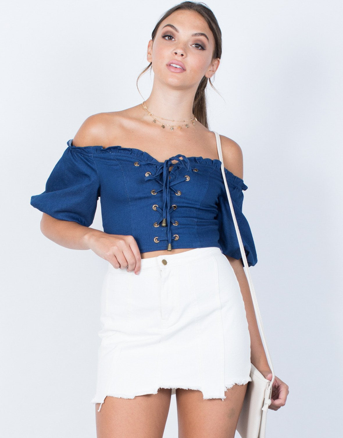 Elevated Denim Crop Top - 2020AVE