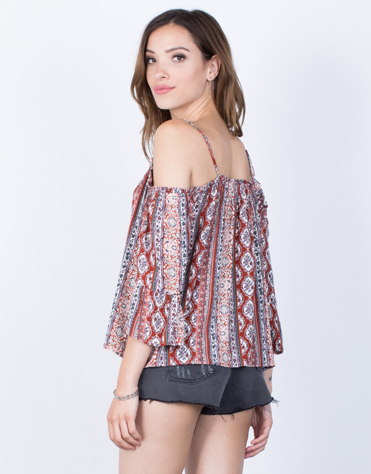 Back View of Ellie Boho Top