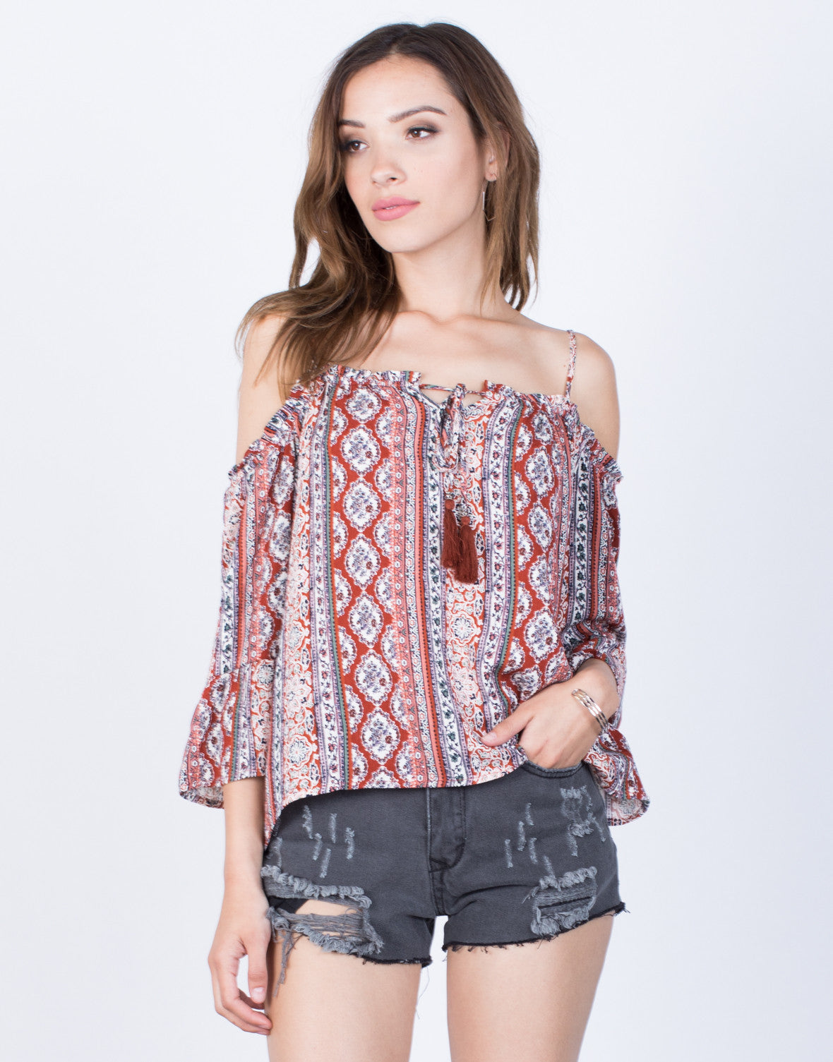 Front View of Ellie Boho Top