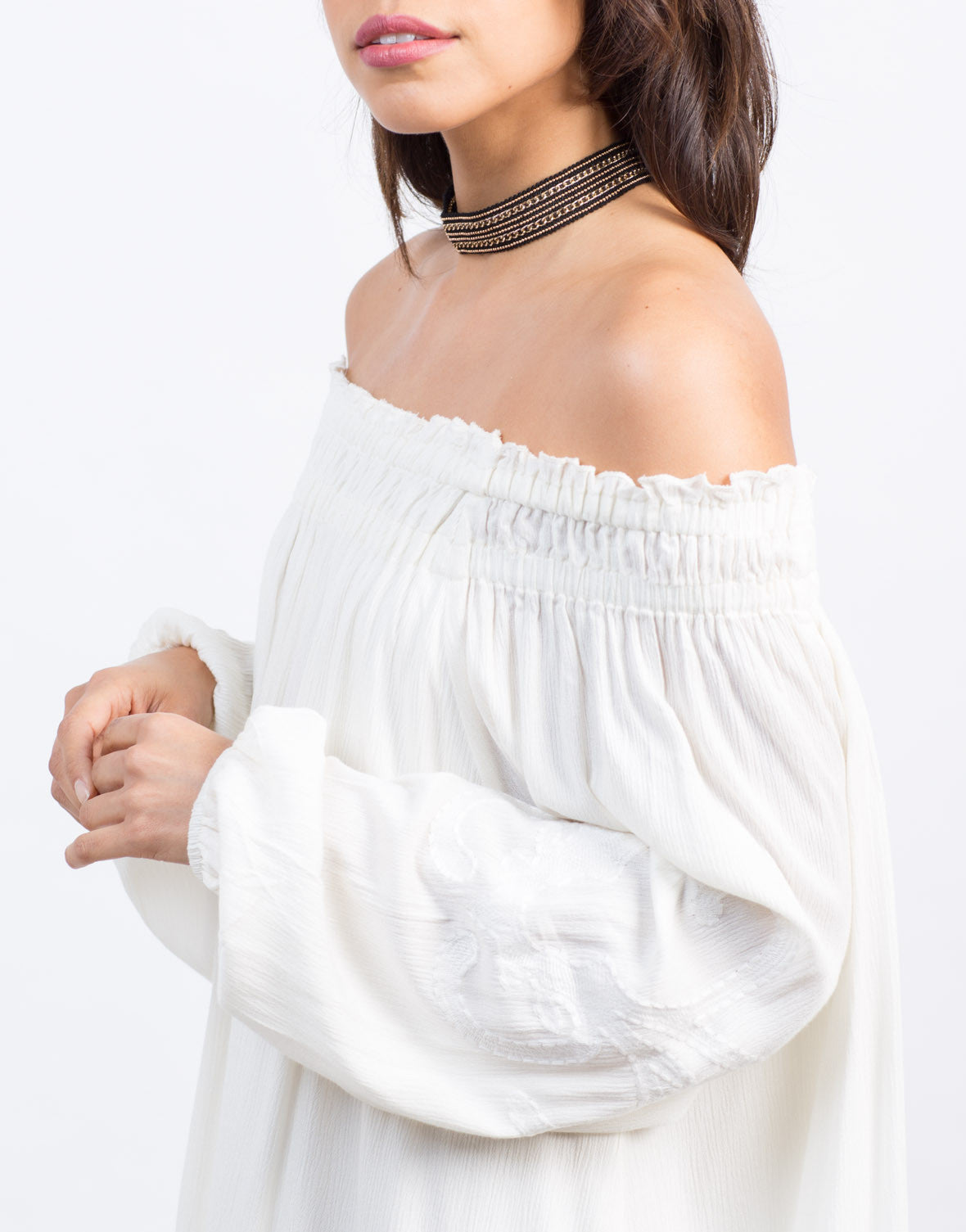 Embroidered Off-the-Shoulder Dress - 2020AVE