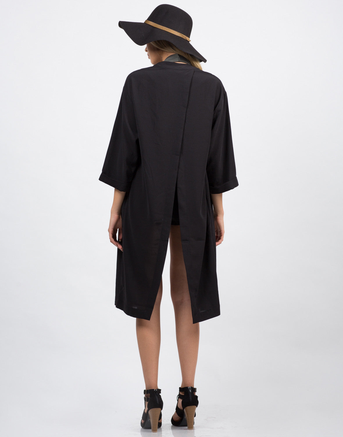 Back View of Envelope Back Slit Jacket