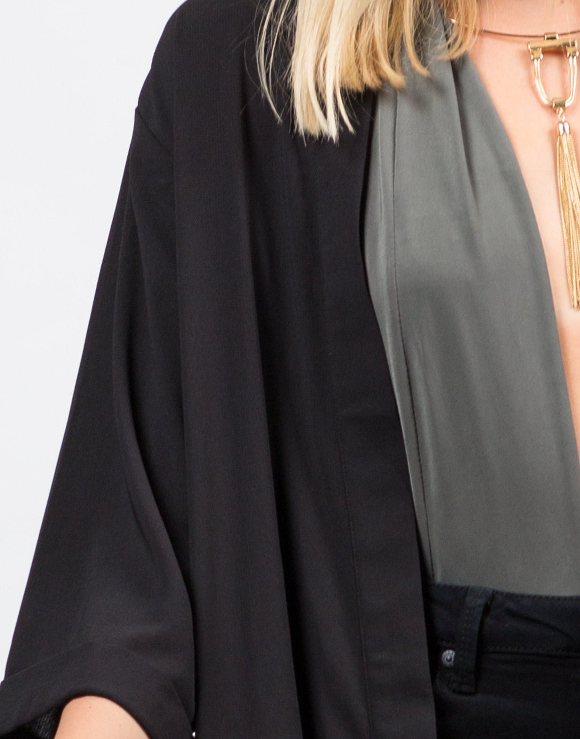 Detail of Envelope Back Slit Jacket