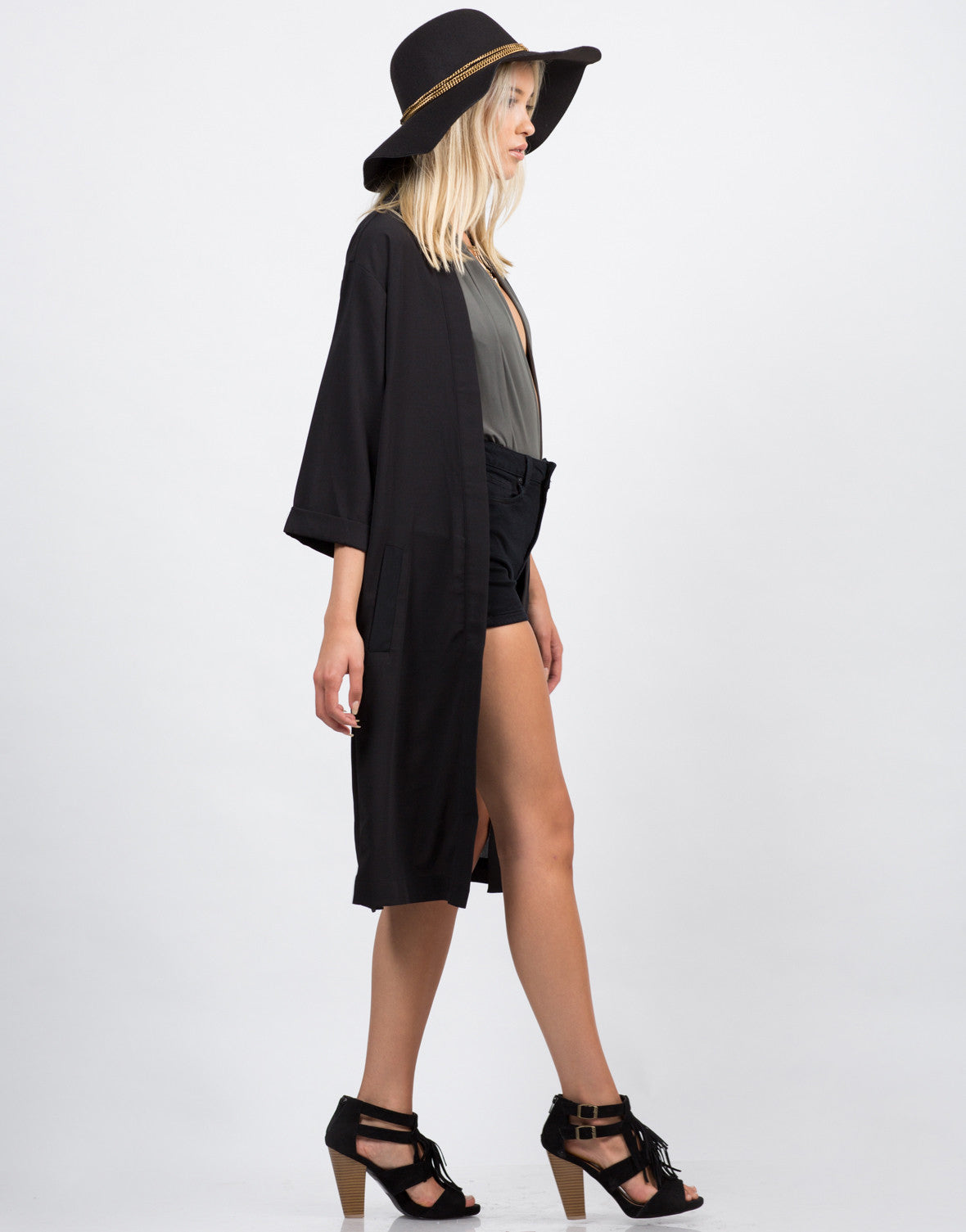 Side View of Envelope Back Slit Jacket