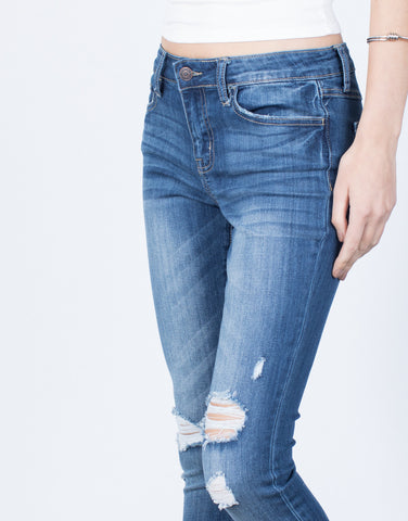 Everyday Distressed Hem Jeans