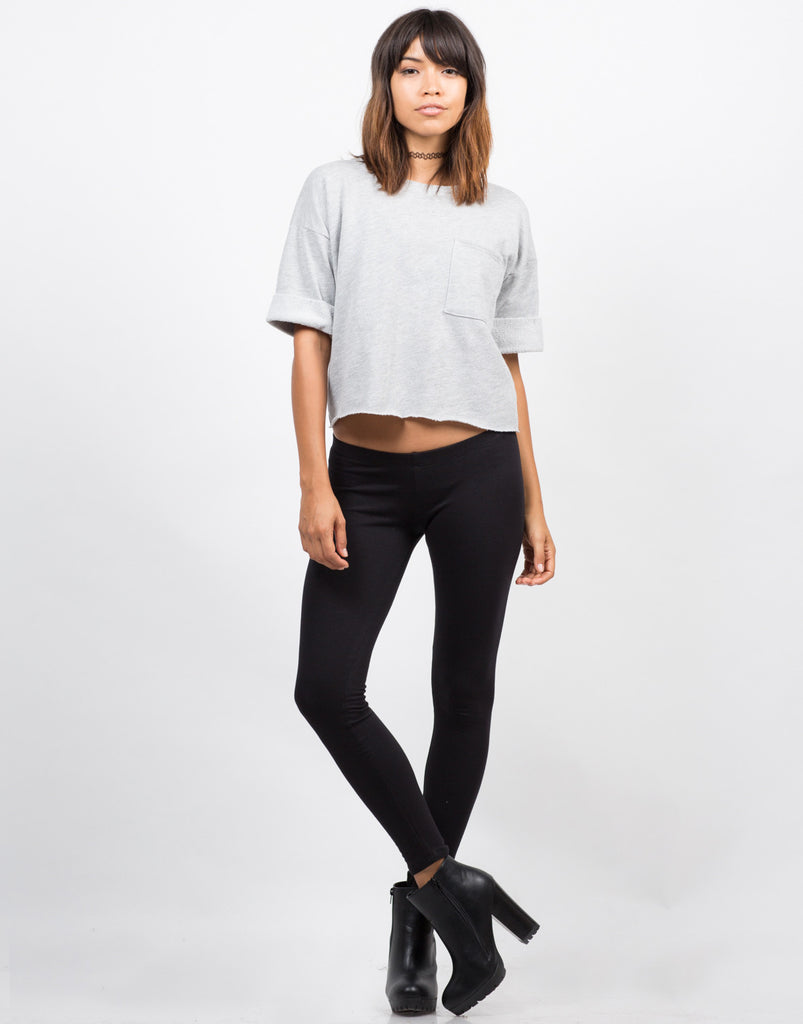 Everyday Basic Leggings - Black - 2020AVE