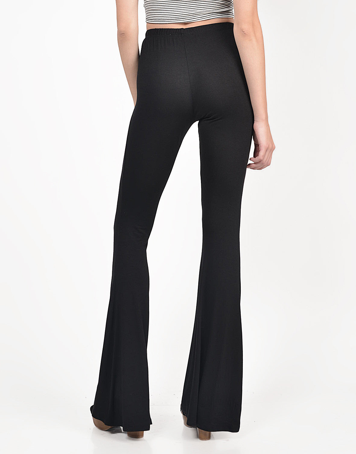 Back View of Everyday Flared Pants