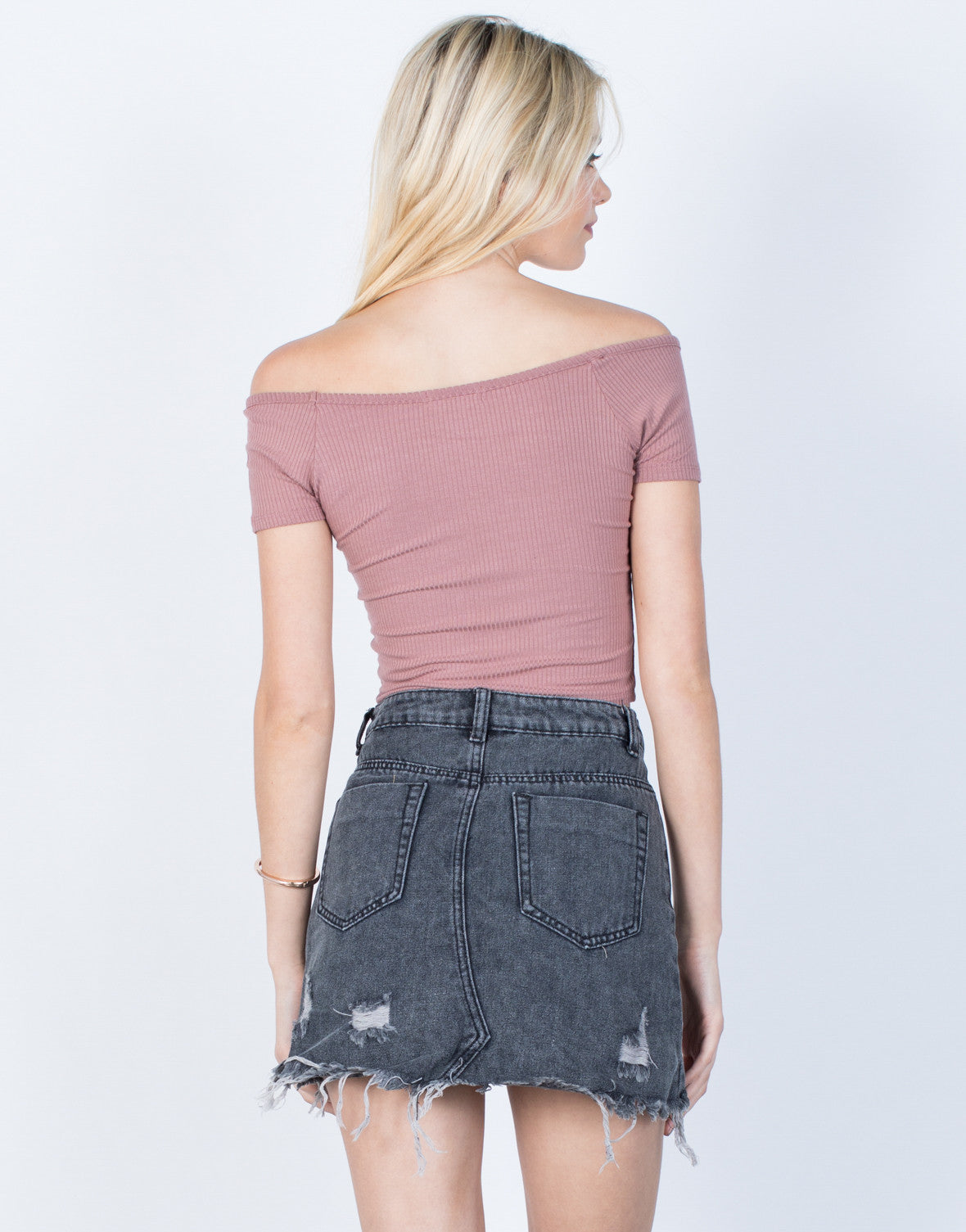 Back View of Everything Crop Top