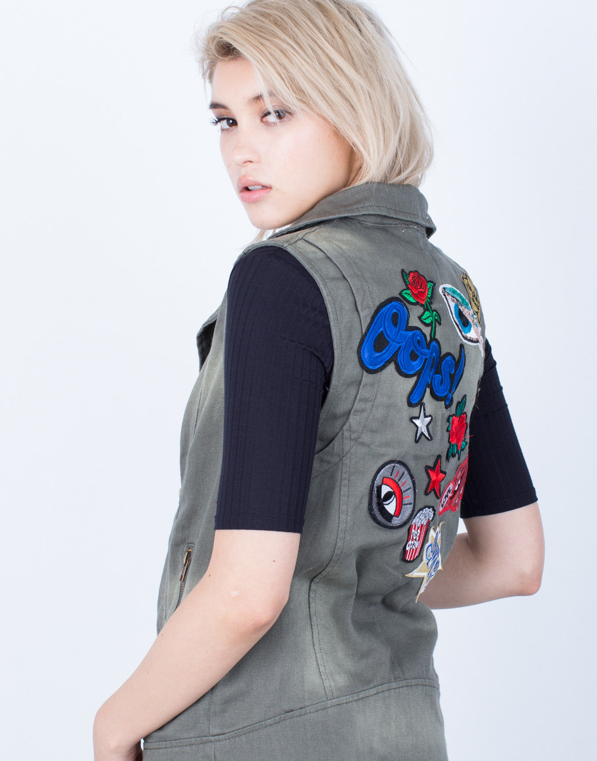 Detail of Exclusive Patched Vest