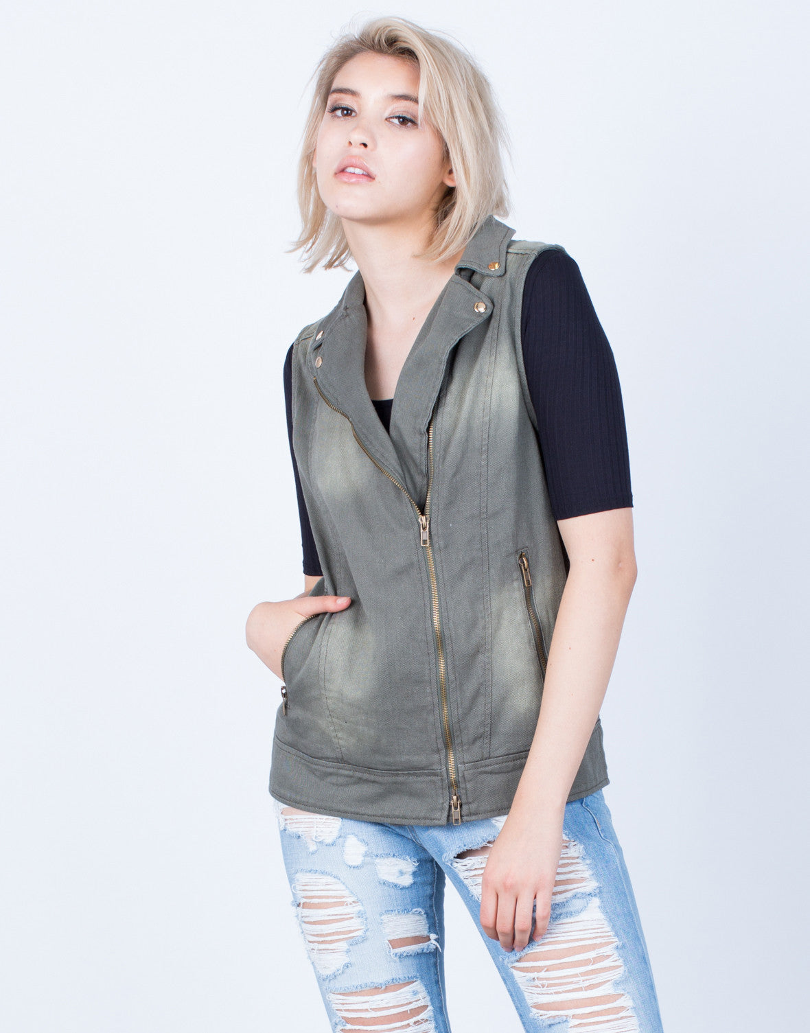 Front View of Exclusive Patched Vest