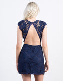 Exposed Back Lace Dress - 2020AVE