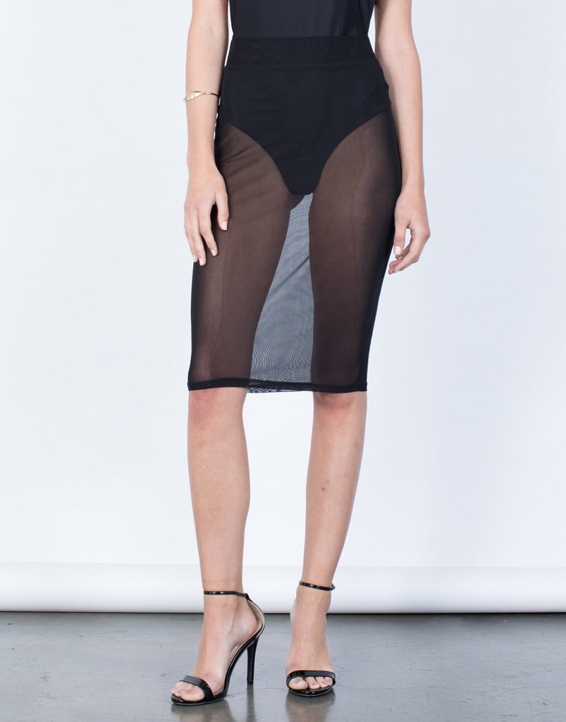 Front View of Fade to Black Skirt