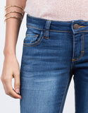 Detail of Faded Cropped Skinny Jeans