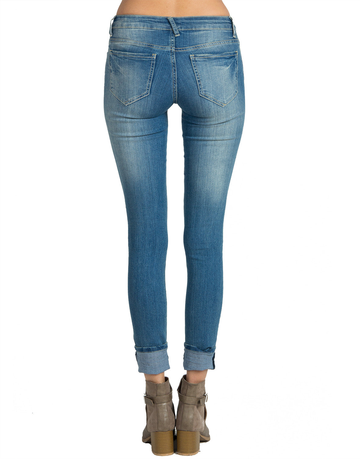 Faded Denim Skinny Jeans - 2020AVE