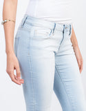 Detail of Faded Knee Slit Jeans