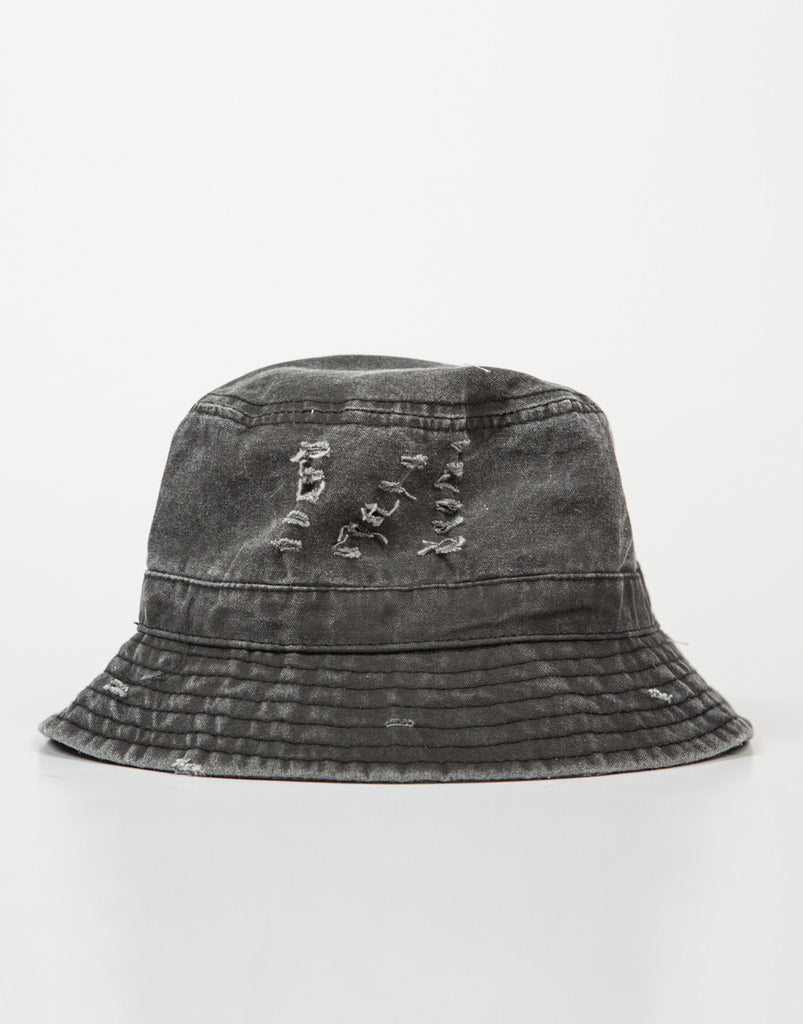 Faded Wash Denim Bucket Hat - 2020AVE