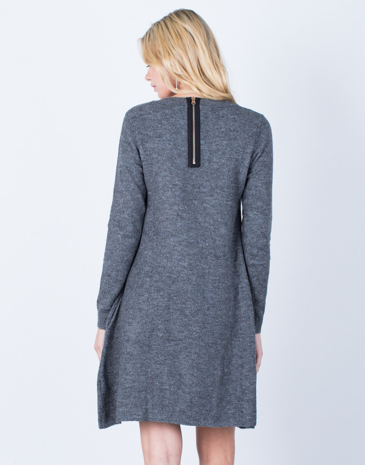 Back View of Fall into Comfort Sweater Dress