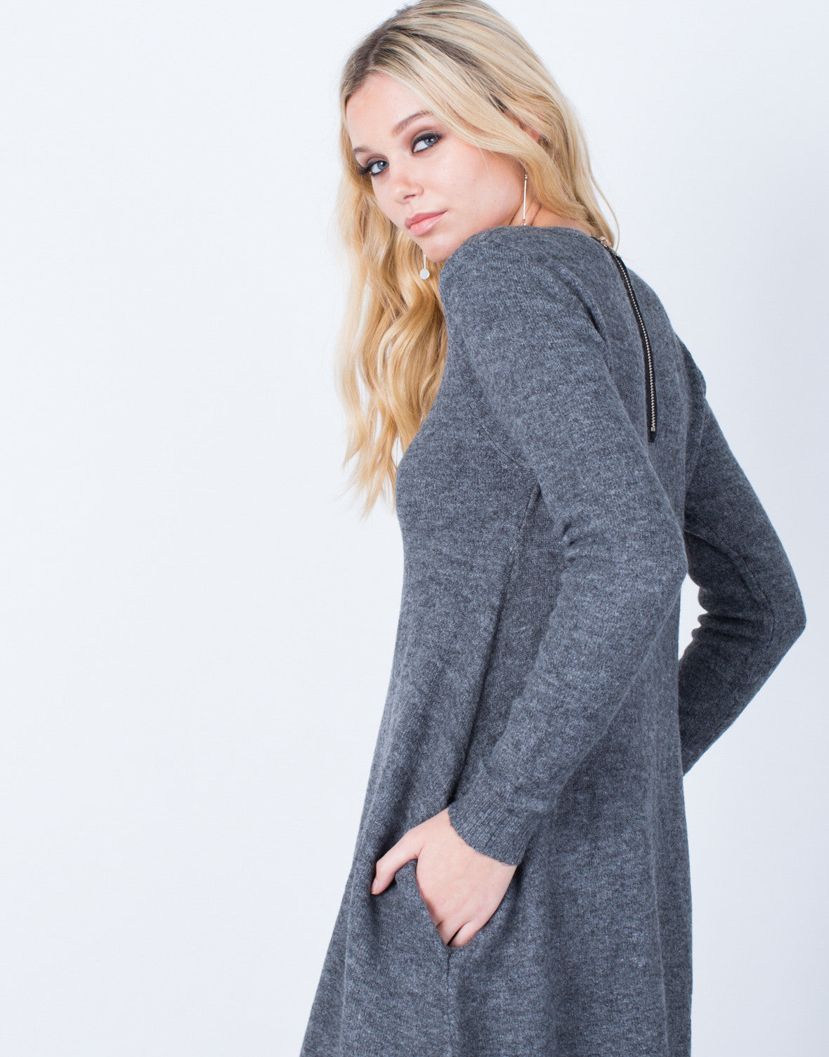 Detail of Fall into Comfort Sweater Dress