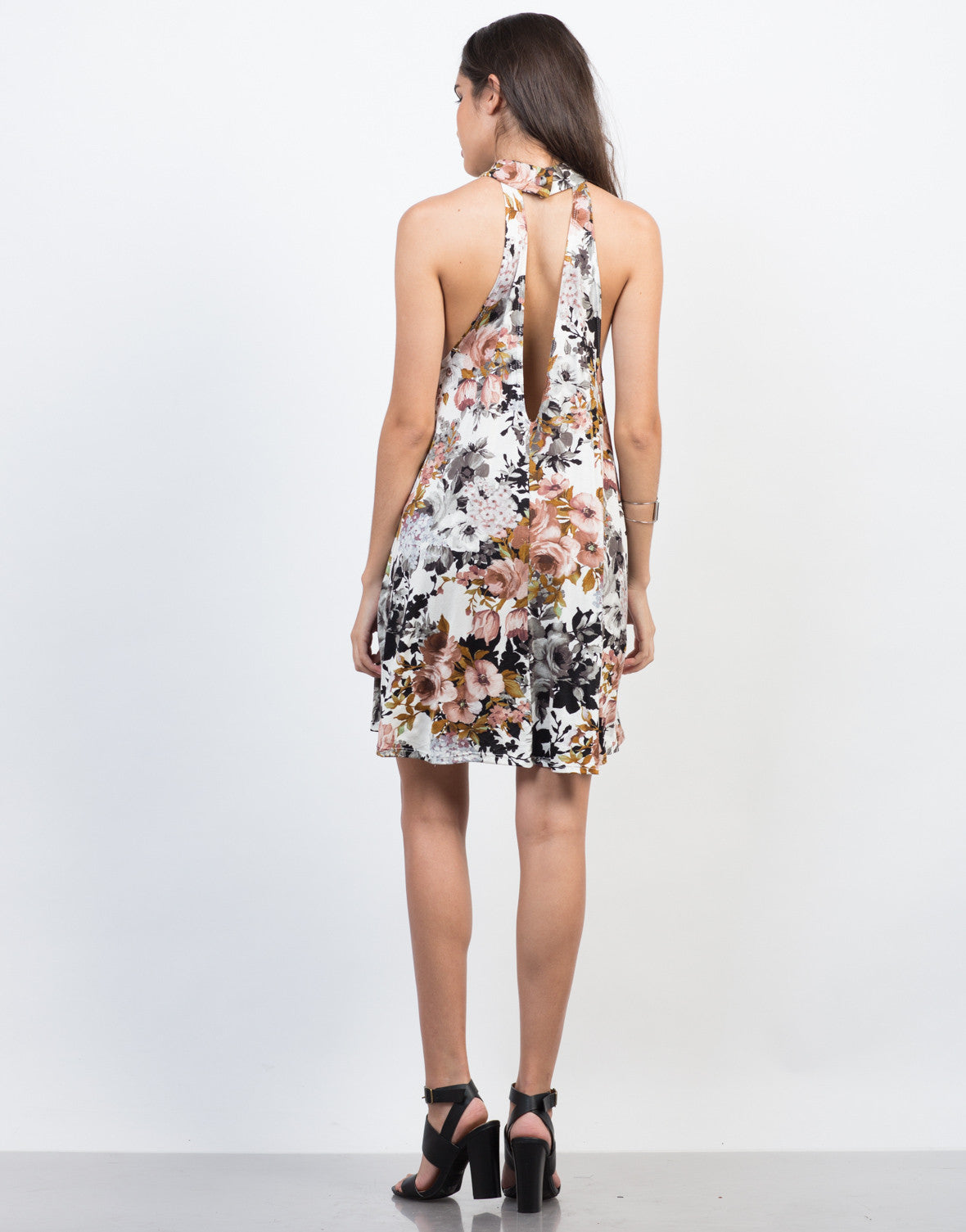 Back View of Fallin' for Florals Dress