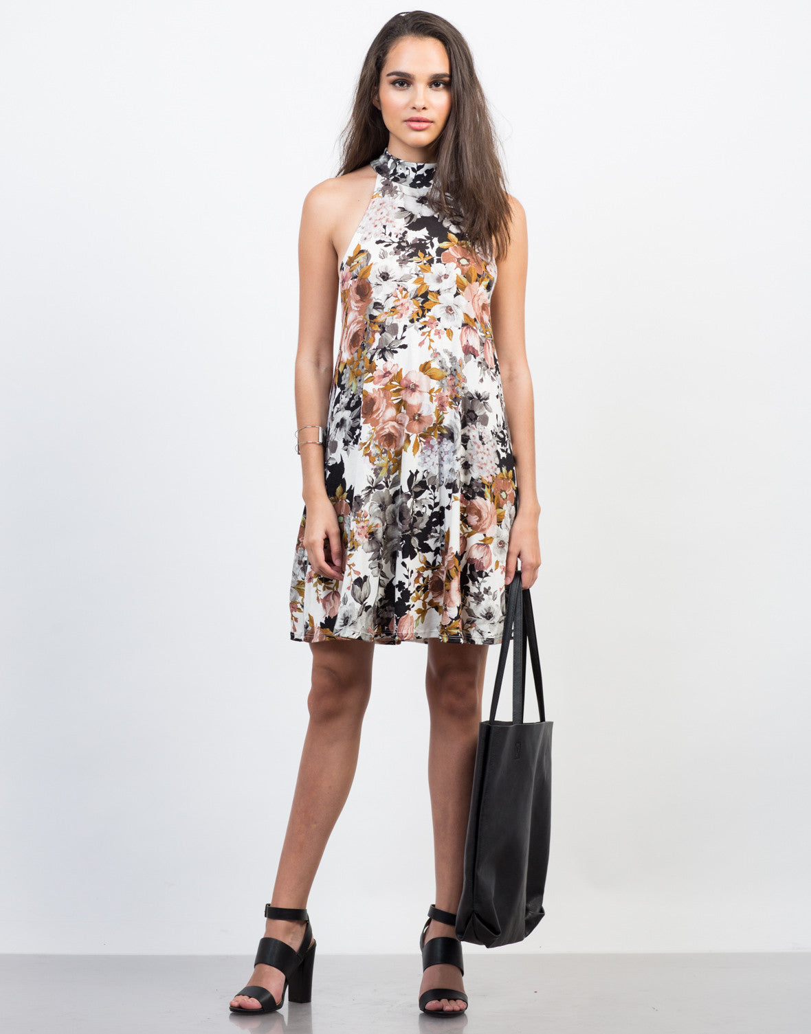Front View of Fallin' for Florals Dress