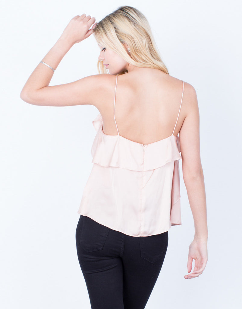 Back View of Fallin' for Silk Cami