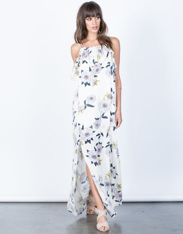 Front View of Falling for Floral Dress