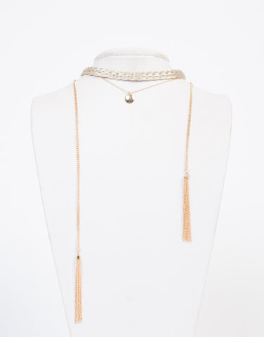 Fancy Braided Layered Necklace - 2020AVE
