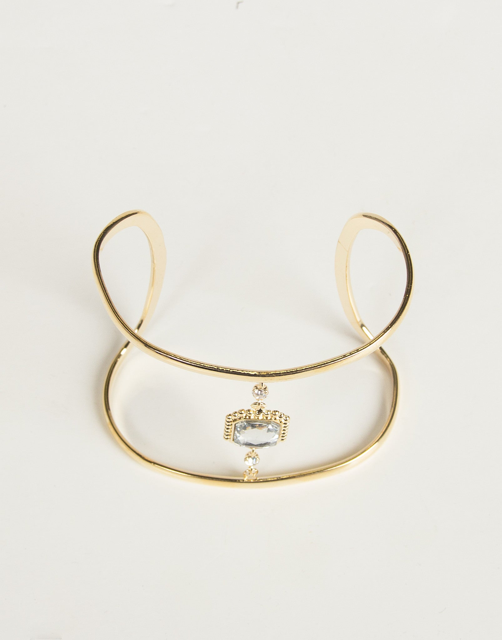 Fancy Jeweled Curve Cuff - Gold - 2020AVE