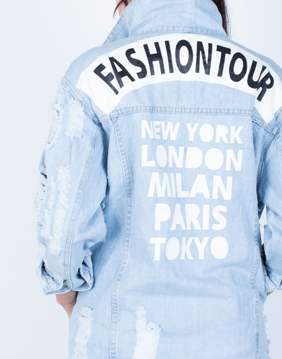Detail of Fashion Tour Denim Jacket