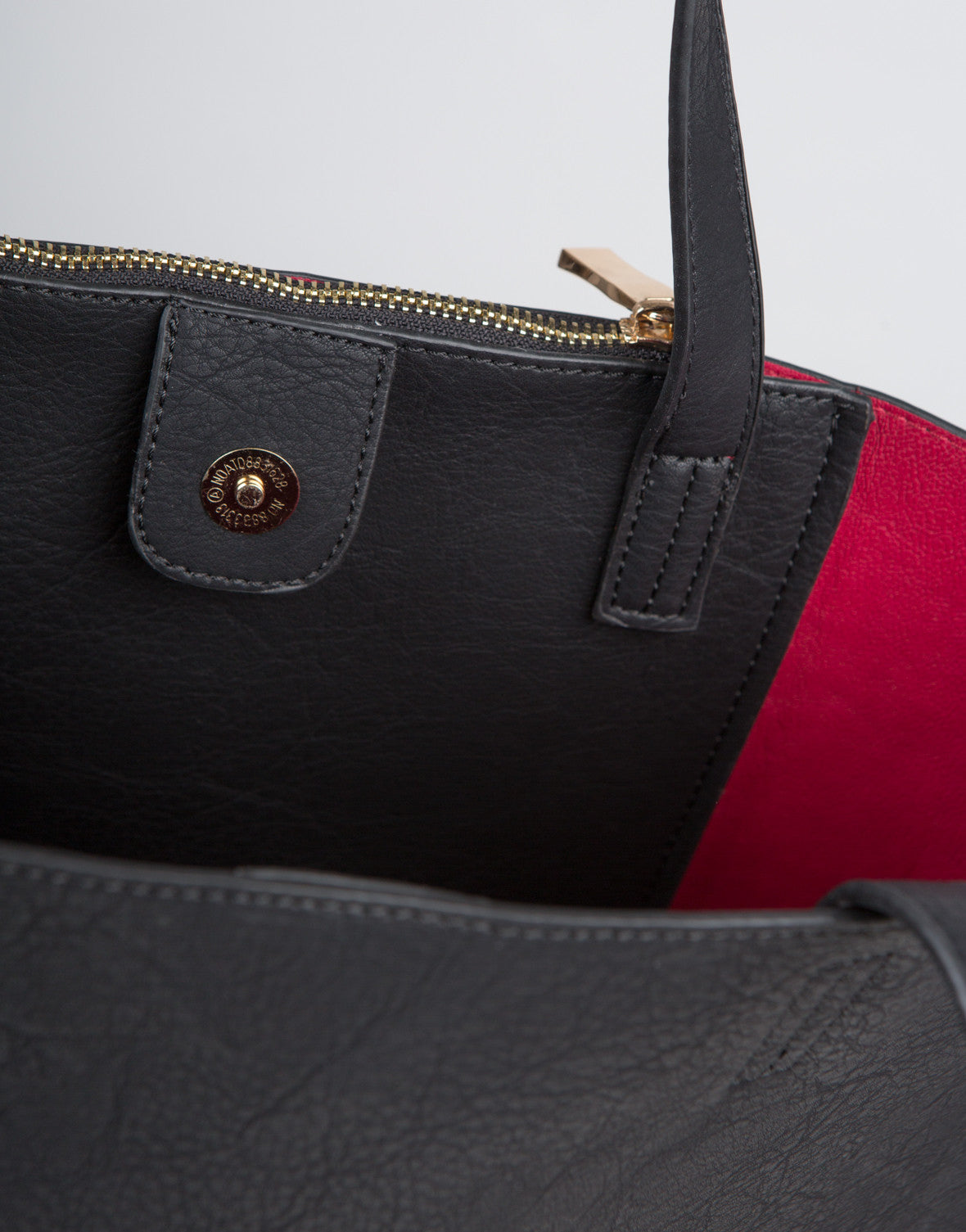 Detail of Faux Leather Tote Bag
