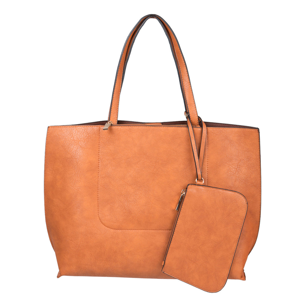Faux Leather Tote Bag - 2020AVE